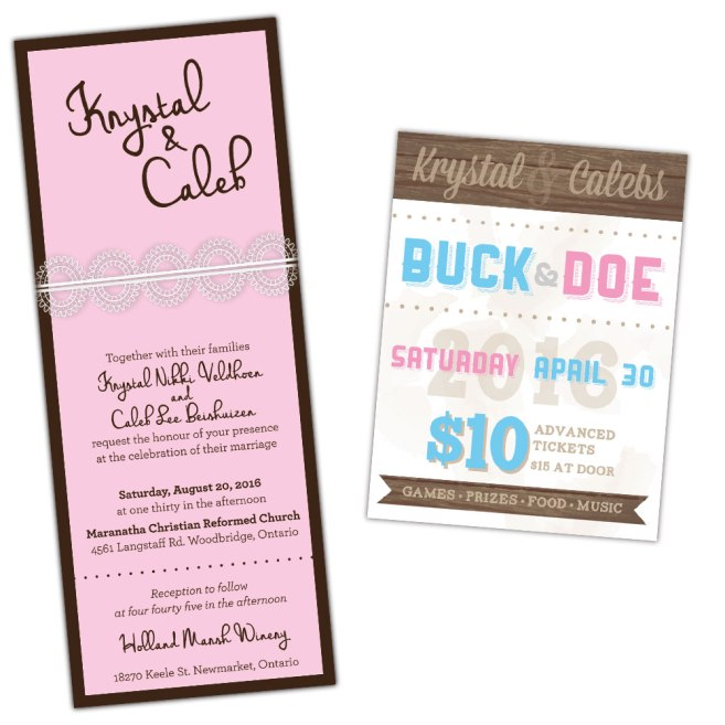 Krystal & Caleb Wedding Stationery