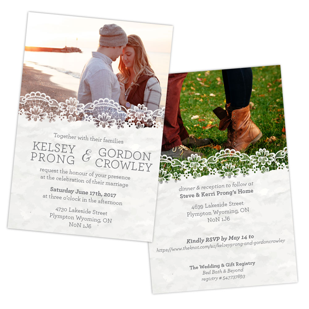 Kelsey & Gordon Wedding Invitation