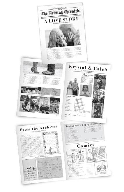 Krystal & Caleb Wedding 'Newspaper'