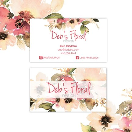 Deb's Floral Business Cards